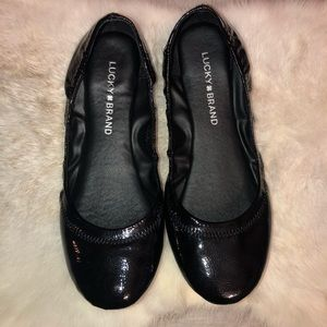 . NWOT Lucky Brand patent leather flats
